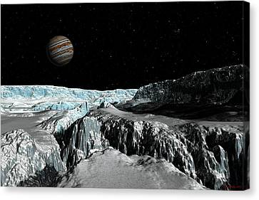 Europa's Icefield  Part 2 Canvas Print by David Robinson