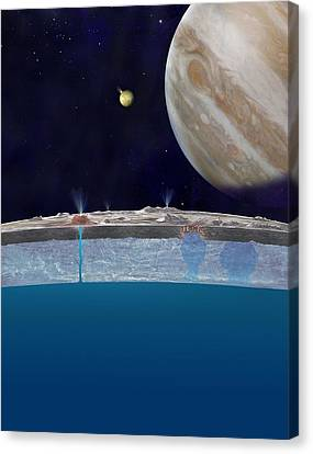 Europa's Ocean, Artwork Canvas Print by Science Photo Library