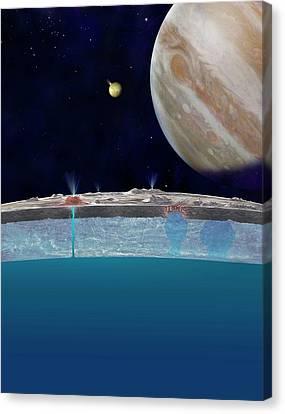 Europa's Surface Ocean Canvas Print by Nasa/jpl-caltech
