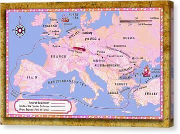 Europe 1890 The Orient Express Canvas Print