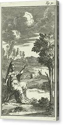 Europe And The Bull, Jan Luyken, Barent Beeck Canvas Print