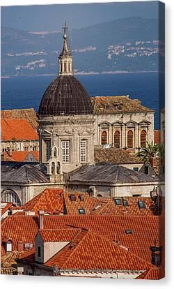 Europe, Croatia, Dubrovnik, Red Tiled Canvas Print