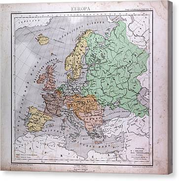 Europe, Europa, Atlas By Th Canvas Print
