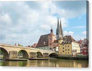 Europe, Germany, Bavaria, Regensberg Canvas Print