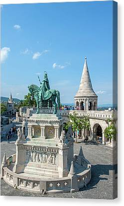 Europe, Hungary, Budapest, Fisherman's Canvas Print