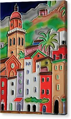 Europe, Italy Italian Hand-painted Canvas Print by Kymri Wilt