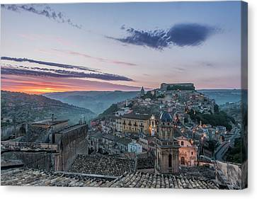 Europe, Italy, Sicily, Ragusa, Looking Canvas Print
