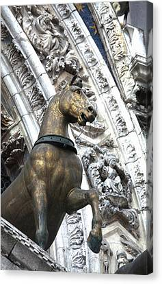 European Union Canvas Print - Europe Italy Venice Horse Statue On San by Terry Eggers