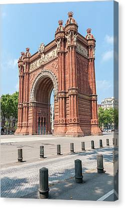 Europe, Spain, Barcelona, Arc De Triomf Canvas Print by Lisa S. Engelbrecht