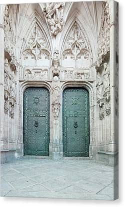 Medieval Entrance Canvas Print - Europe, Spain, Toledo, Toledo Cathedral by Rob Tilley