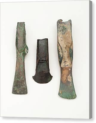 European Bronze Age Axe Heads Canvas Print