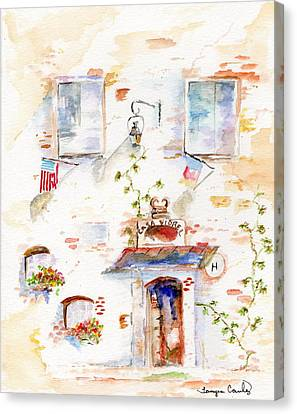 European Hotel Canvas Print by Tamyra Crossley