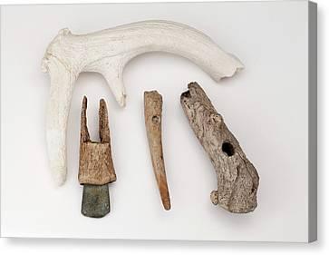 European Stone Age Antler Tools Canvas Print