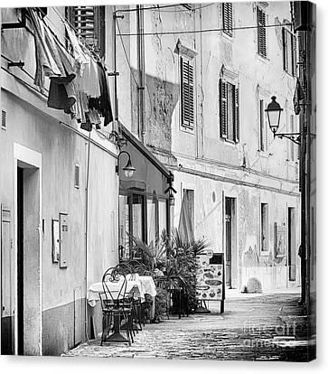 European Street Scene Canvas Print