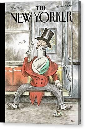 Eustace Spreads Canvas Print by Ricardo Liniers
