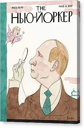 March Canvas Print - Eustace Vladimirovich Tilley by Barry Blitt