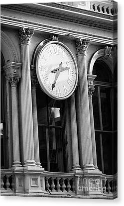 E.v. Haughwout Building With Its Clock And Cast Iron Facade On Broadway In Soho New York Canvas Print by Joe Fox