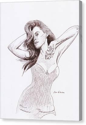 Eva Mendez Canvas Print