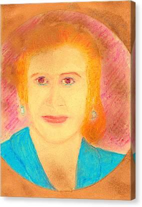 Eva Peron Orange Canvas Print by Richard W Linford