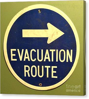 Evacuation Route Canvas Print