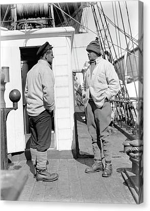 Evans And Scott On Terra Nova Canvas Print