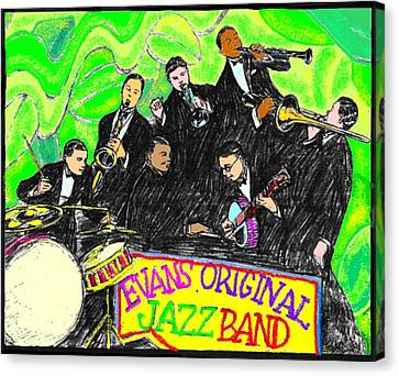Evans Original Jazz Band Canvas Print by Mel Thompson