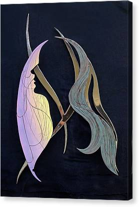Canvas Print featuring the sculpture Eve by Dan Redmon