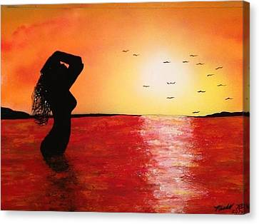 Canvas Print featuring the painting EVE by Michael Rucker