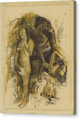 Eve The Nightmare Recto,  Eve The Nightmare Verso Paul Canvas Print by Litz Collection