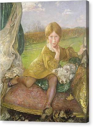 Evelyn Canvas Print by Annie Louisa Swynnerton