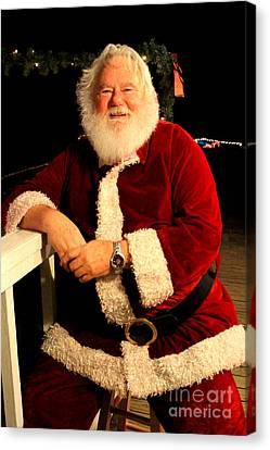 Even Santa Needs A Break Canvas Print by Kathy  White