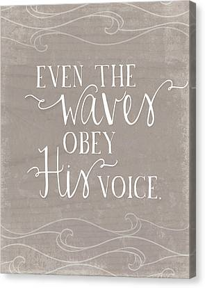 Even The Waves Canvas Print by Amy Cummings