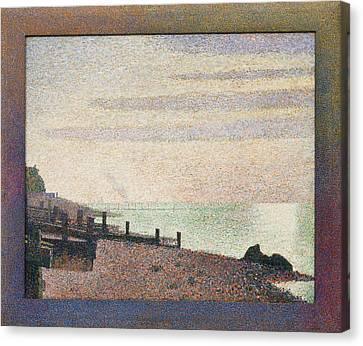 Evening - Honfleur Canvas Print by Georges Seurat