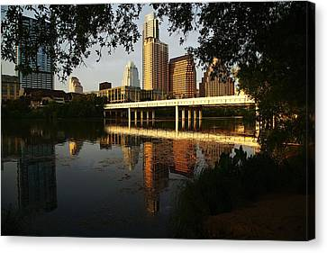 Evening Along The River Canvas Print
