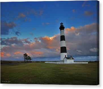 Evening At Bodie Island Lighthouse Canvas Print by Matt Taylor