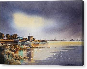 Canvas Print - Evening At Seapoint by Roland Byrne