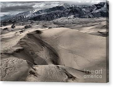 Evening At The Dunes Canvas Print by Adam Jewell