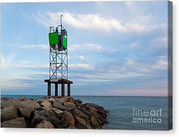 Evening At The Jetty Canvas Print by Michelle Wiarda