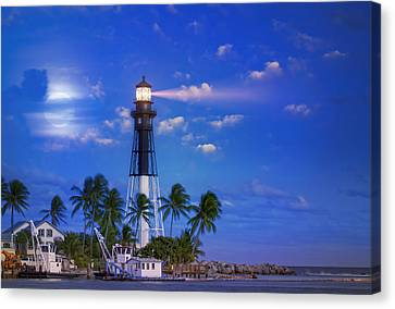 Evening At The Lighthouse Canvas Print by Mark Andrew Thomas