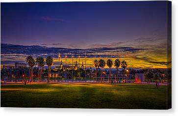 Evening At The Park Canvas Print by Marvin Spates