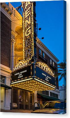 Saenger Canvas Print - Evening At The Saenger Theatre by Steve Harrington