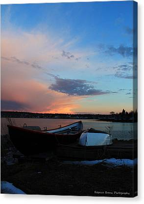 Evening At The Shore Canvas Print by Becca Brann