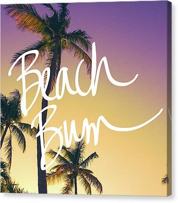 Evening Beach Bum Canvas Print by Emily Navas