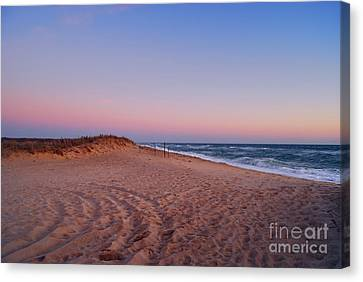 Evening Beachtime Canvas Print by Sabine Jacobs