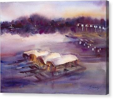 Evening Boatride Canvas Print