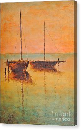 Evening Boats Canvas Print