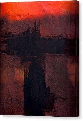 Evening Bridge Canvas Print by Richard Hinger