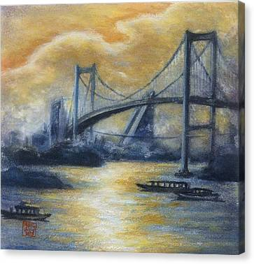 Evening Bridge Canvas Print by Tomoko Koyama
