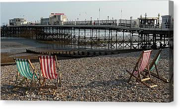 Evening By The Pier Canvas Print