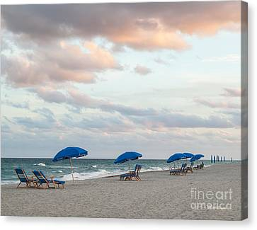 Evening By The Sea Canvas Print by Michelle Wiarda